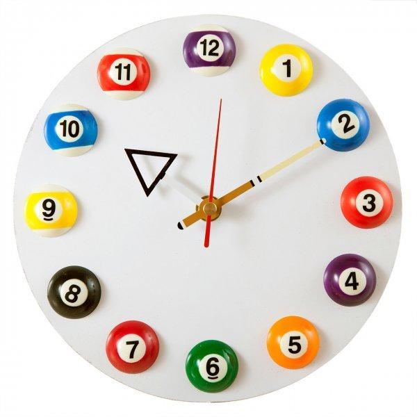 """Часы настенные """"12 шаров"""" D20,5 см белые"""