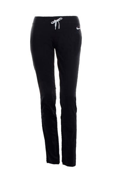 Брюки спортивные женские Nike Jersey Open Hem черные