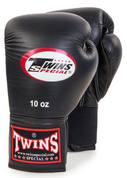 Перчатки боксерские  натуральная кожа Twins BGEL-1 черные