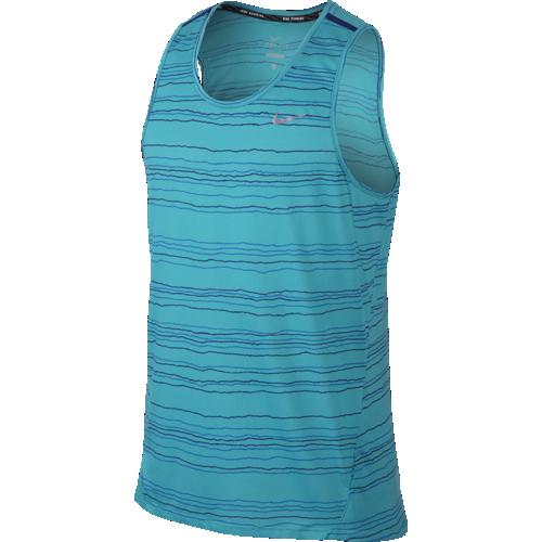Майка мужская Nike Dri-FIT Cool Tailwind Stripe голубая