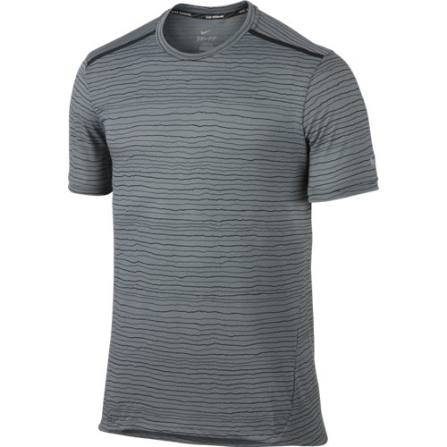 Футболка мужская Nike Dri-FIT Cool Tailwind Stripe серая
