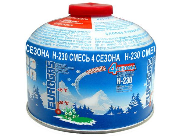 Баллон газовый (пропан-бутан-изобутан) 230 гр.