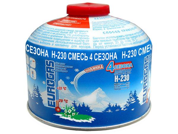 """Газ для портативных плит """"Следопыт"""" 230 гр. всесезонный PF-FG-230"""