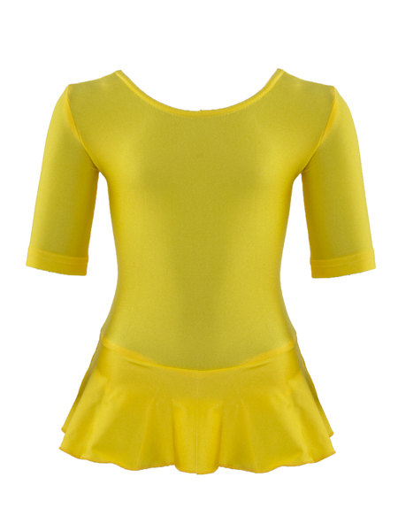 Комбидресс длинный рукав и юбочка  AS4 желтый