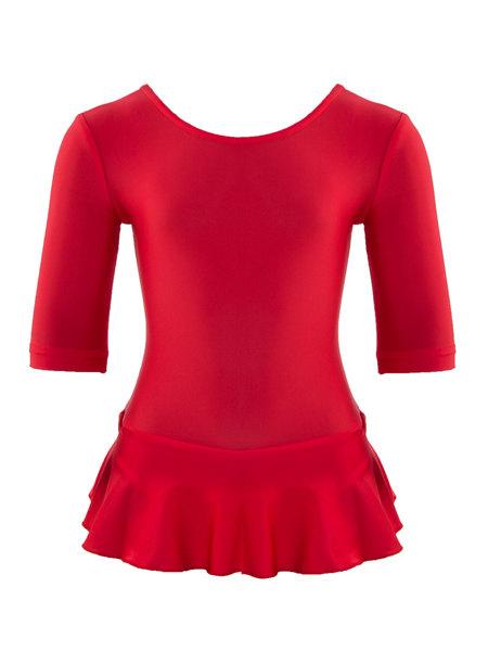 Комбидресс для девочек  AS4 с юбочкой красный
