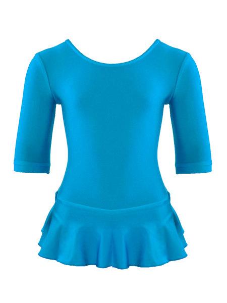 Комбидресс для девочек AS4  с юбочкой голубой