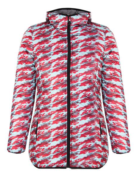 Куртка утепленная женская AS4 серая/принт