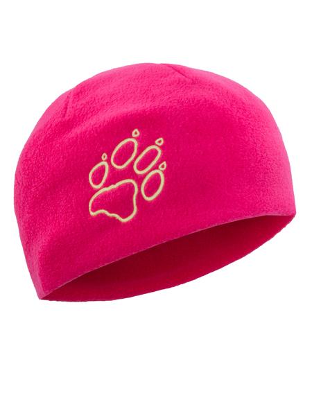 Шапка детская Jack Wolfskin FLEECE CAP KIDS розовая