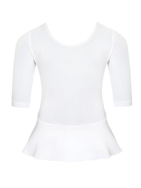 Комбидресс длинный рукав и юбочка  AS4 белый