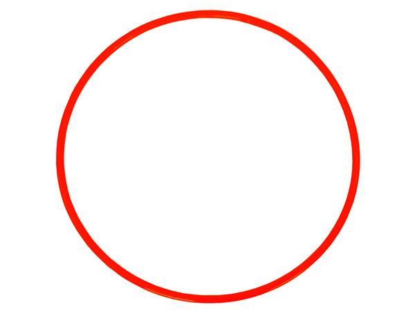 Обруч пластмассовый красный 60 см