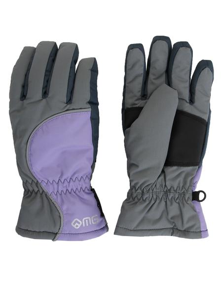 Перчатки женские Monte Grande серые/фиолетовые