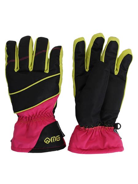 Перчатки женские Monte Grande черные/розовые