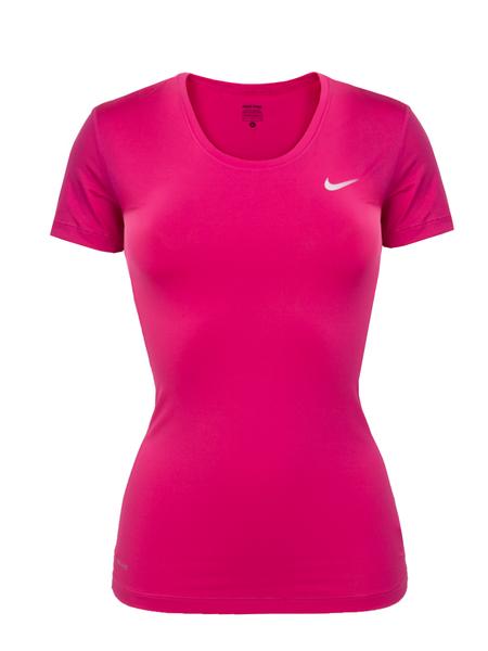 Футболка женская Nike NP CL Short Sleeve розовая