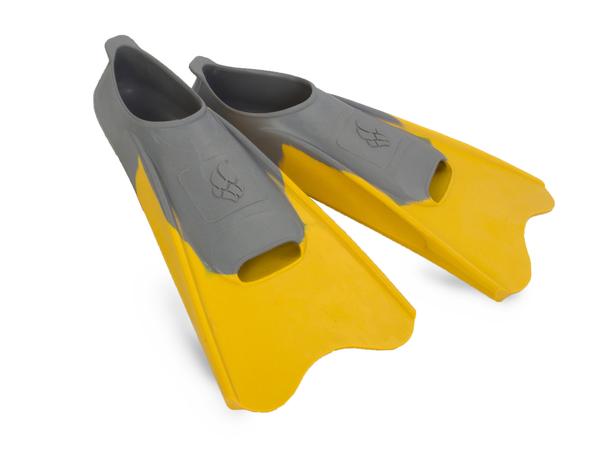 Ласты плавательные детские MadWave Pool Colour Short желтые/серые