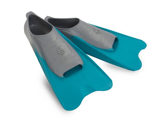Ласты плавательные детские MadWave Pool Colour Short голубые/серые