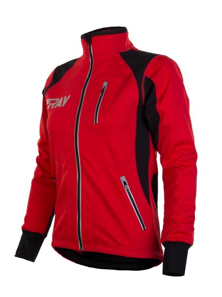 Куртка разминочная WS RAY черная/красная