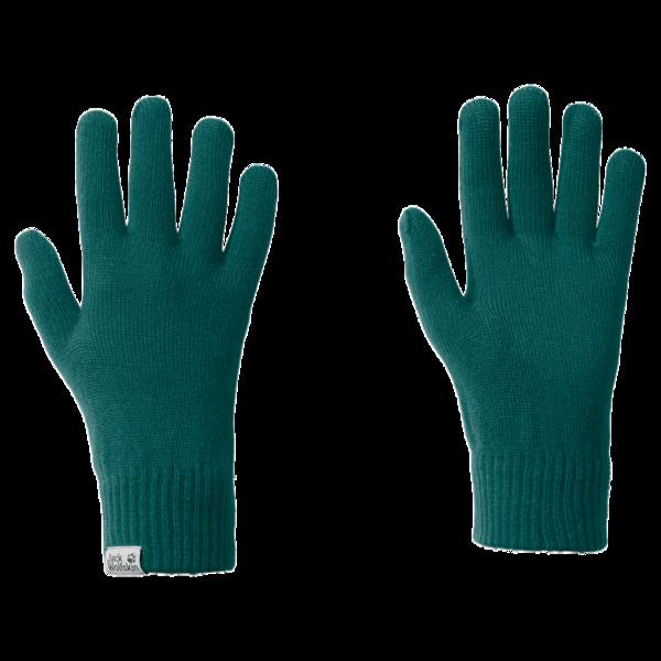 Перчатки трикотажные женские Jack Wolfskin Rib зеленые