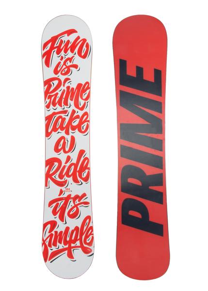 Сноуборд Prime Simple красный