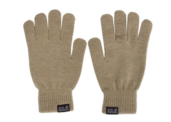 Перчатки женские Jack Wolfskin RIB GLOVE бежевые