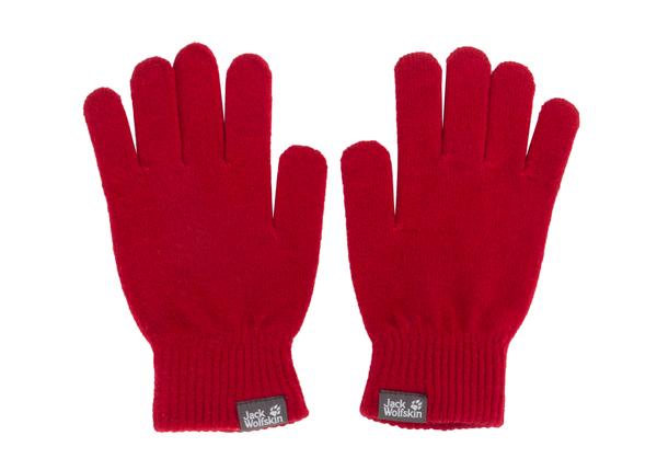 Перчатки  трикотажные  Женские Jack Wolfskin Rib красные