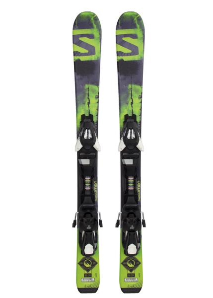 Лыжи горные с креплениями Salomon Q-Max JR XS + EZY5