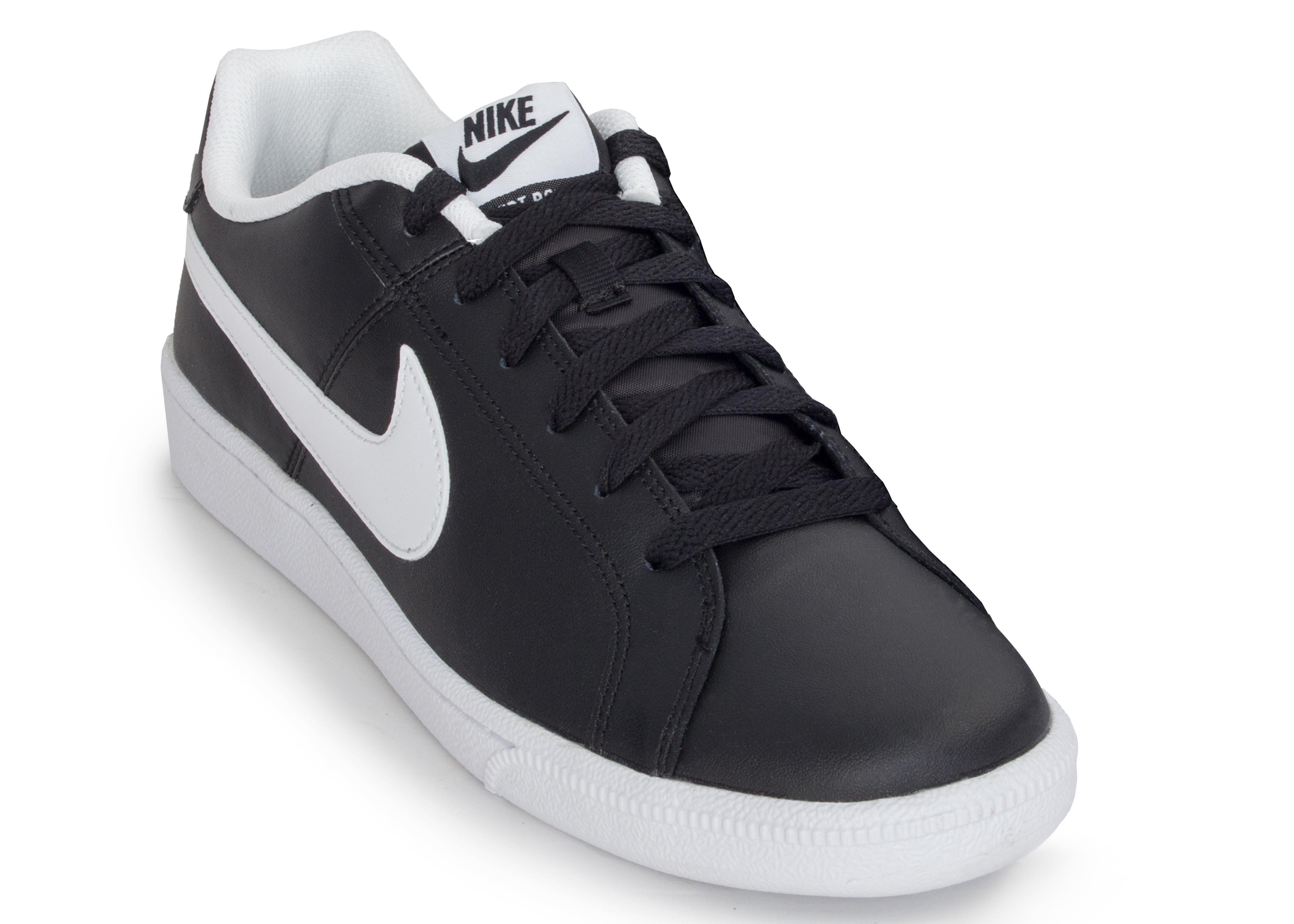 Кеды кожаные мужские Nike Court Royale черные - Сеть спортивных ... 3a5ae31b12e7c