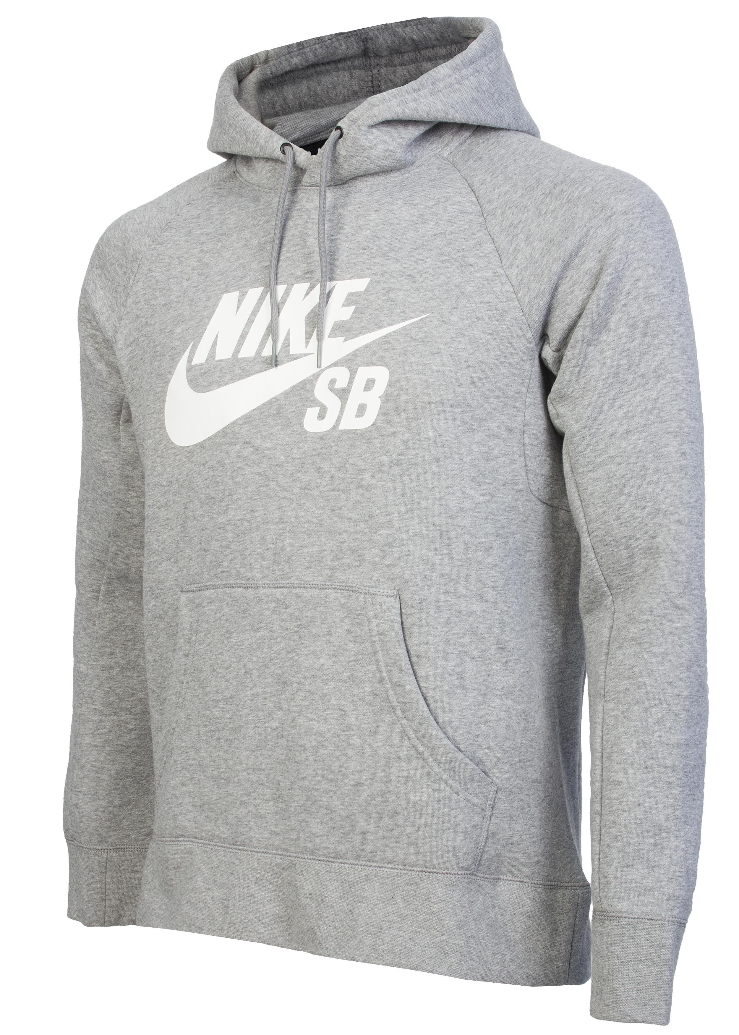 96421114 Толстовка мужская Nike SB Icon Hoodie серая - Сеть спортивных ...