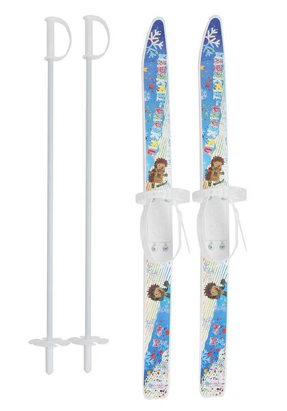 """Лыжи детские """"Лыжики-пыжики"""" 75/75 см с креплениями и палками"""