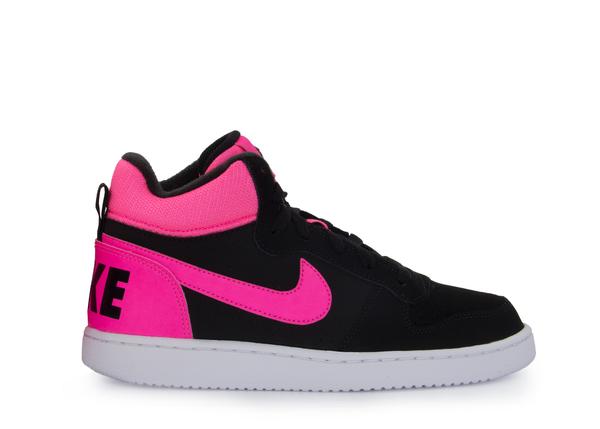 122d7aa9 Кеды детские Nike Court Borough Mid черные/розовые - Сеть спортивных ...