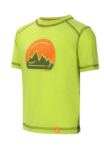 Футболка детская Regatta Motion зеленая