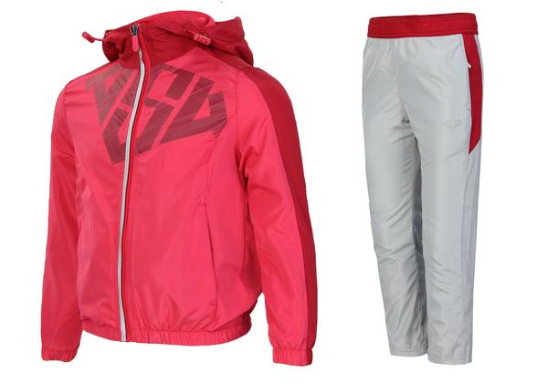 Костюм спортивный детский AS4 розовый/серый