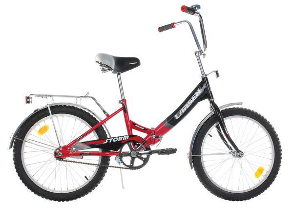 Велосипед Larsen Storm черный/красный