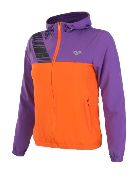 Ветровка женская AS4 фиолетовая/оранжевая