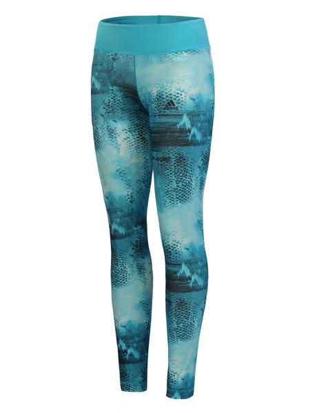 Лосины женские Adidas голубые BQ2120