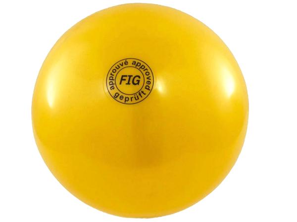 Мяч гимнастический d19 см желтый