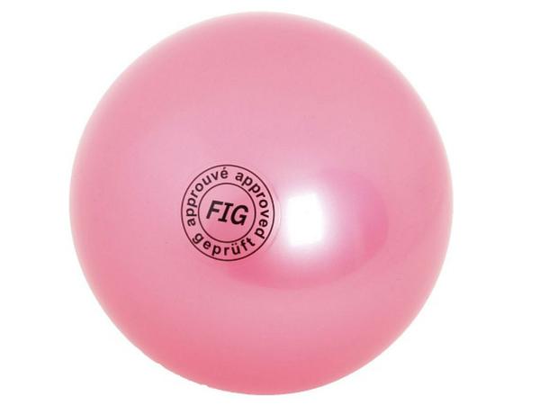Мяч гимнастический d19 см розовый
