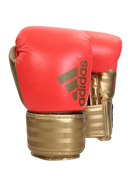 Перчатки боксерские Adidas Hybrid 200 adiH200 12 унций красный/золотой