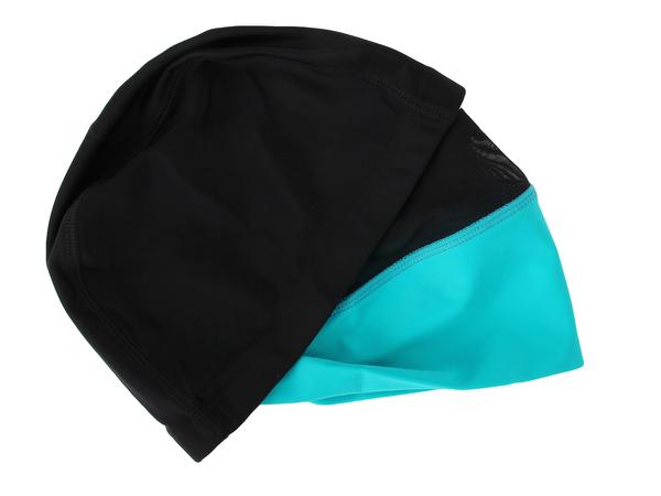 Шапочка плавательная VS Rapunzel для длинных волос черная/голубая