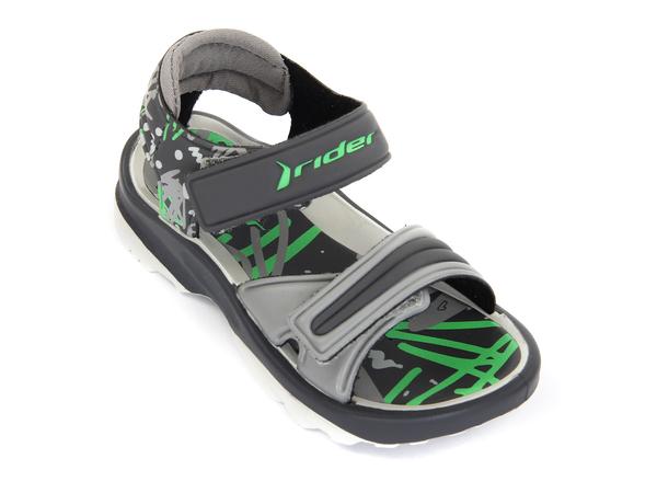 Сандалии детские Rider K2 TWIST серые/зеленые