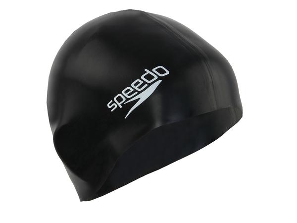 Шапочка плавательная Speedo PLAIN FLAT SILICONE черная