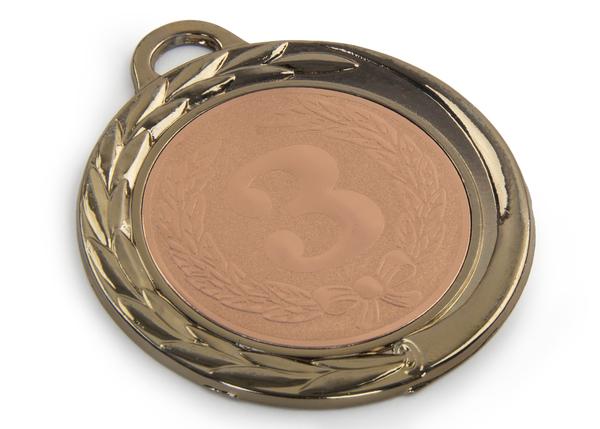 Медаль 3 МЕСТО 70 мм (бронзовая)