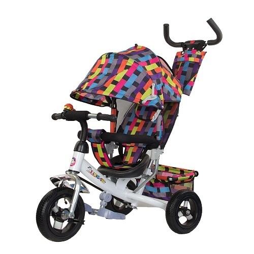 Велосипед детский трехколесный с толкателем 519