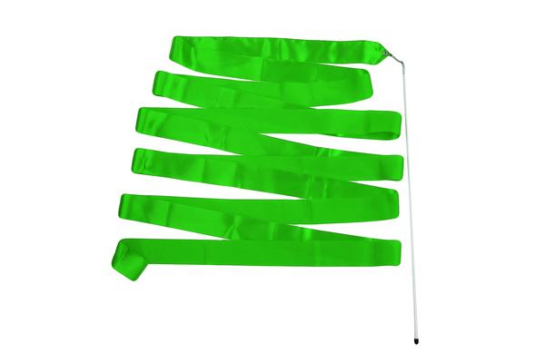 Лента гимнастическая зеленая