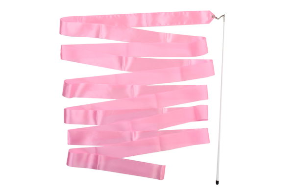 Лента гимнастическая розовая