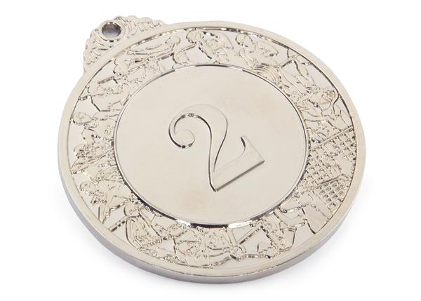 Медаль Классическая серебро 70 мм