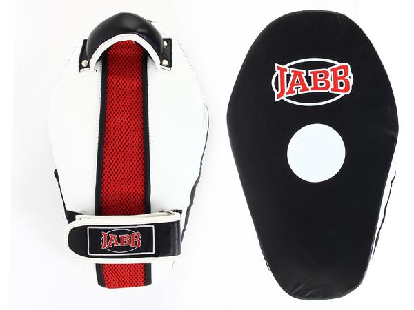 Лапы боксерские (пара) JABB натуральная кожа черный/белый