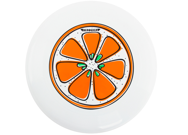 "Фрисби Aerocker ""Апельсин"" белый"
