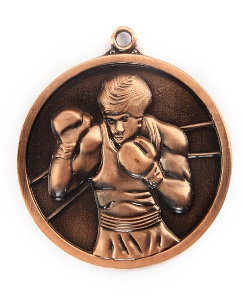 Медаль бокс (36) бронза 50мм
