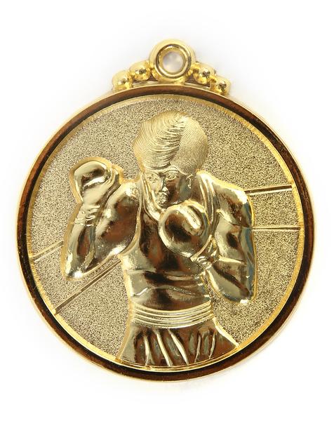 Медаль боксерская золото