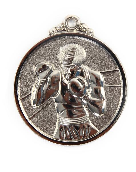 Медаль бокс (36) серебро 50мм